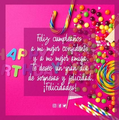 20 Lindas Imágenes De Feliz Cumpleaños Mejor Amiga