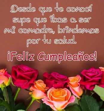 Lindas Frases De Feliz Cumpleaños Para Una Comadre