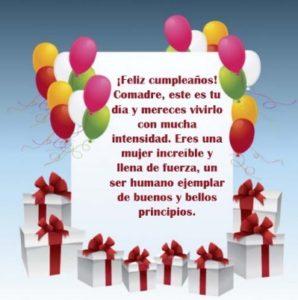 Lindas Frases de Feliz Cumpleaños para una Comadre querida