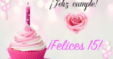 Los Mejores deseos de Feliz 15 Años Amiga apreciada