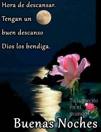 bello deseo de buenas noches