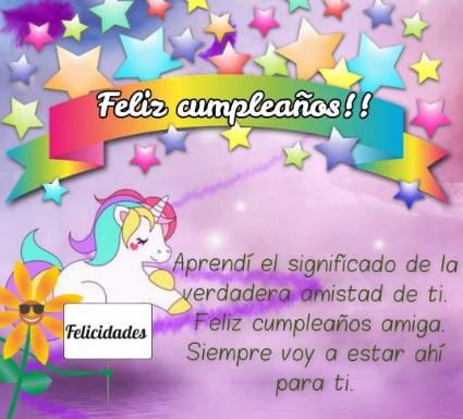 Lindas Frases De Feliz Cumpleaños Para Una Amiga