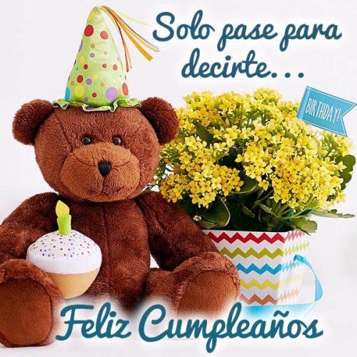 Feliz cumpleaños que cumplas más de cien