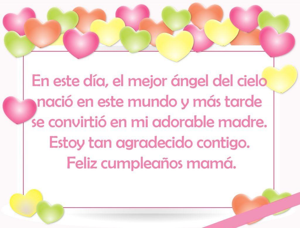 feliz cumpleaños amada mamá