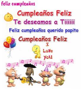 feliz cumpleaños amado papito