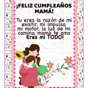 feliz cumpleaños apreciada mamá