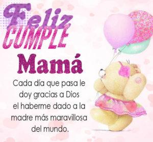 feliz cumpleaños bella mamá