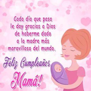 feliz cumpleaños maravillosa madre
