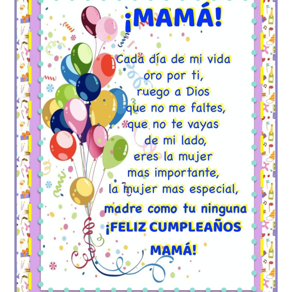 feliz cumpleaños maravillosa mamá