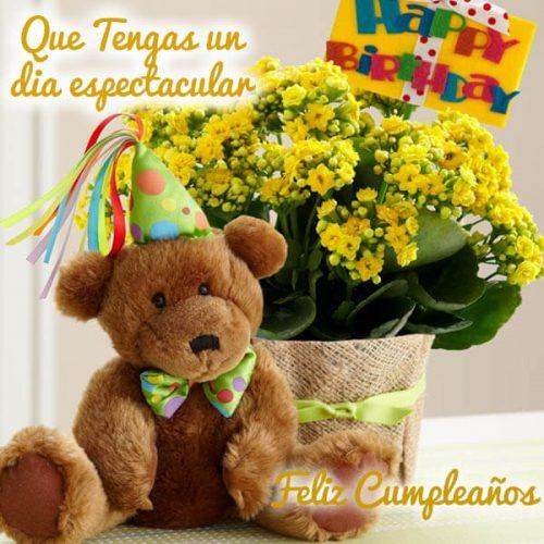 feliz cumpleaños que tengas un día espectacular