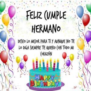 feliz cumpleaños querido hermano