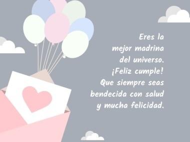 feliz cumpleaños para la mejor madrina