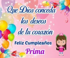 feliz cumpleaños prima admirable