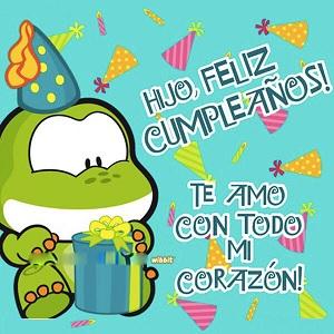 Feliz cumpleaños hijo alegre