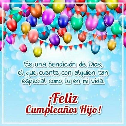 Feliz cumpleaños hijo bendecido