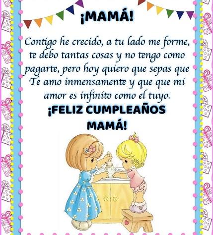 Feliz cumpleaños mamá encantadora