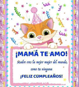 Feliz cumpleaños mamá linda