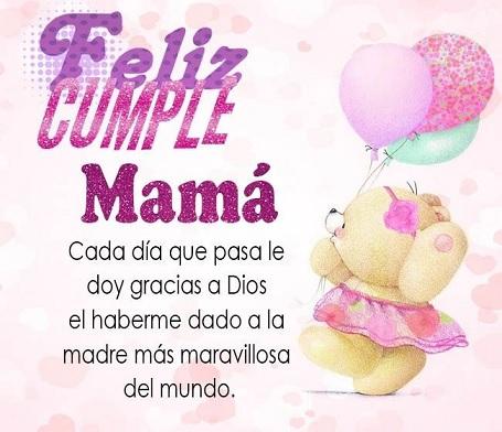 Feliz cumpleaños mamá maravillosa
