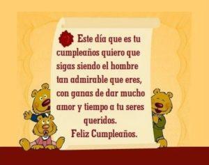 Feliz cumpleaños papito admirable