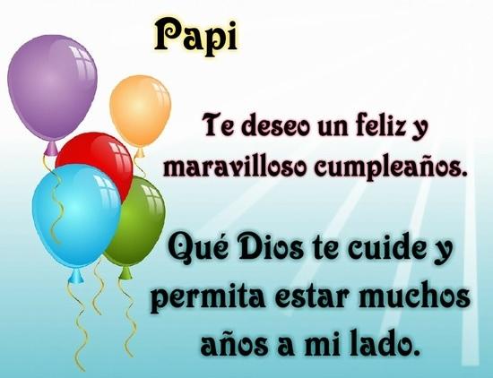 Feliz cumpleaños papito