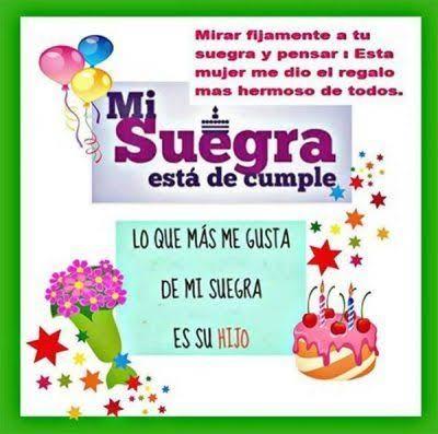 Feliz cumpleaños Suegra querida