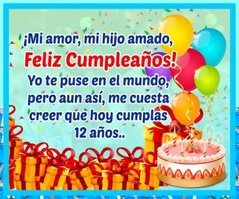 cumpleaños 12 de mi hijo