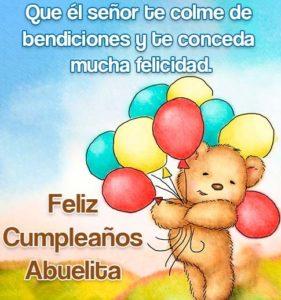 feliz cumpleaños abuelita querida