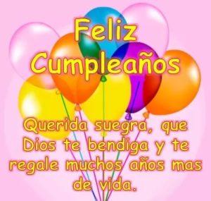 feliz cumpleaños suegra bondadosa