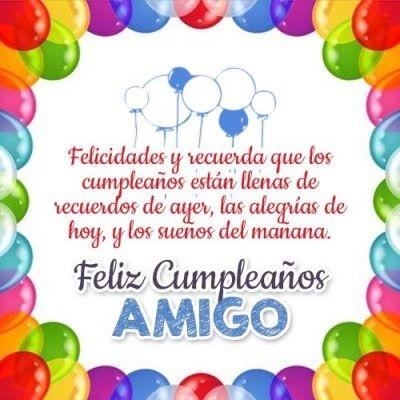 Cumpleaños Feliz A Ti admirable Amigo