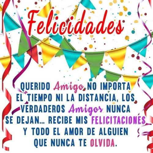 Cumpleaños Feliz A Ti inolvidable Amigo