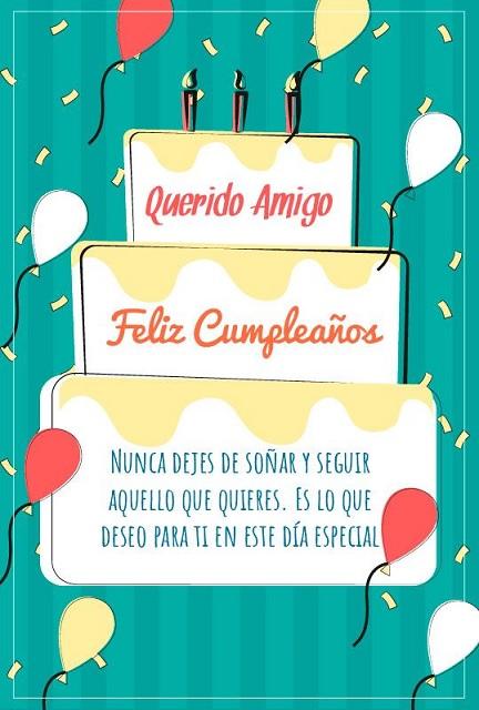 Cumpleaños Feliz A Ti talentoso Amigo