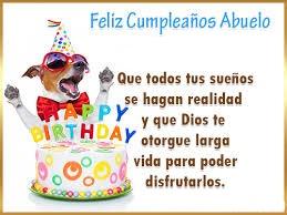 Feliz cumpleaños abuelito alegre