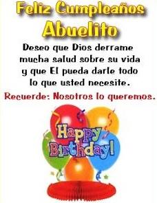 Feliz cumpleaños abuelito apreciado