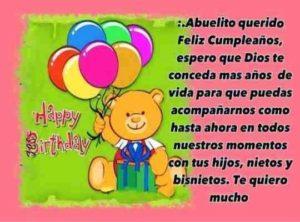 cumpleaños feliz a ti abuelito maravilloso