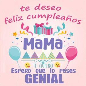 Feliz cumpleaños mamita linda