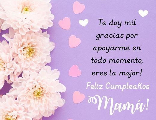 feliz cumpleaños mami cariñosa